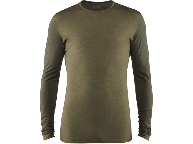 Fjällräven Keb T-shirt Manches longues Laine Homme, laurel green-deep forest